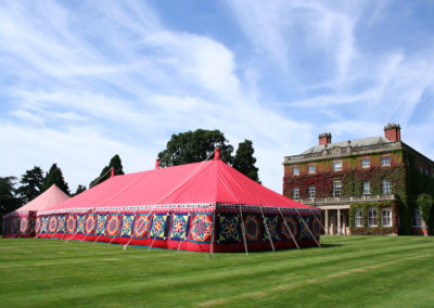 A 21m marquee in front of a beautiful Georgian house