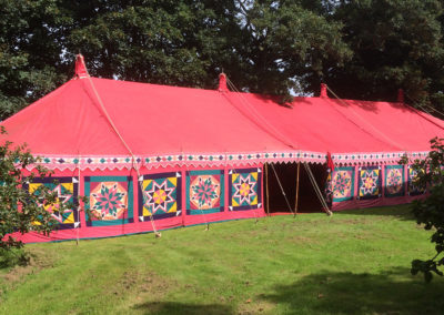 A 21m marquee nestled in a Cornish garden