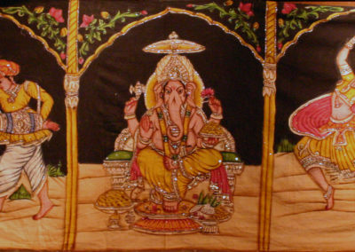 Hand painted Ganesh backdrop