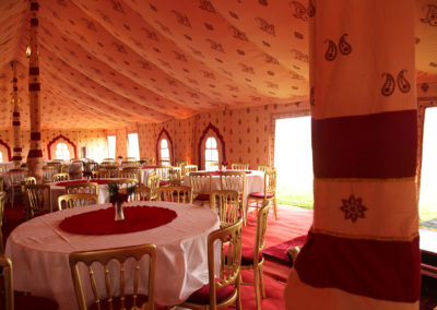 Ready for the wedding meal, doors & windows open