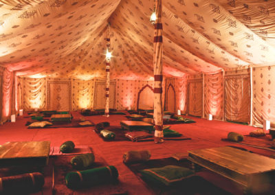 The Maharani by night, doors rolled down