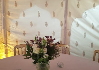 Chameli means jasmine in English and flowers look great in this marquee